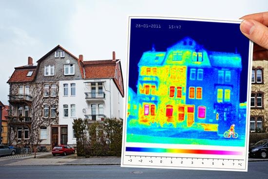 Wärmebild Fassadendämmung
